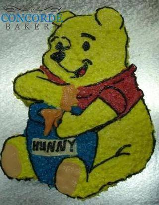 cut out pooh bear