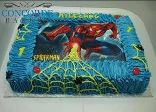 picture cake spiderman